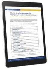 Probate checklist white background
