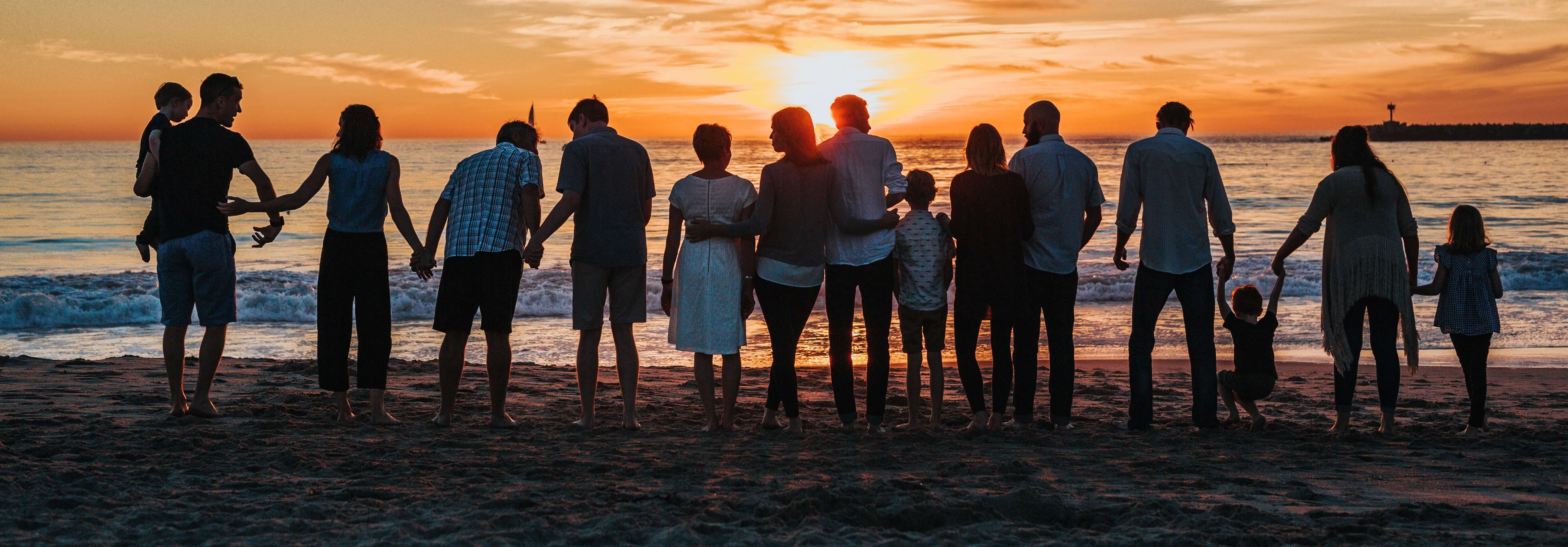 Family sunset cropped sky